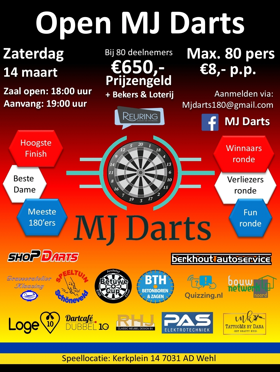 Open MJ Darts